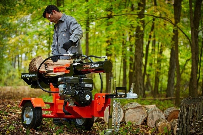 How does an electrical log splitter works and its uses?